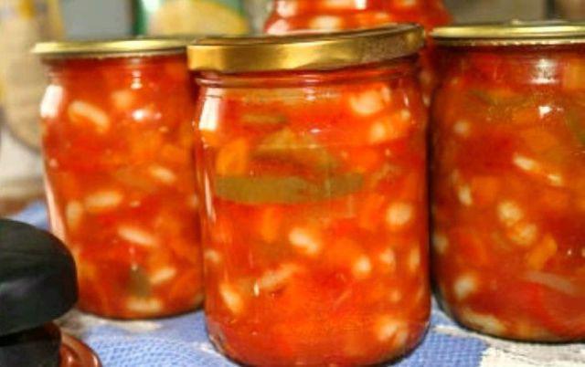 Фасоль с помидорами на зиму рецепты вкусные