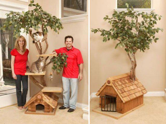 Своими руками поделки из дерева для кошек 98