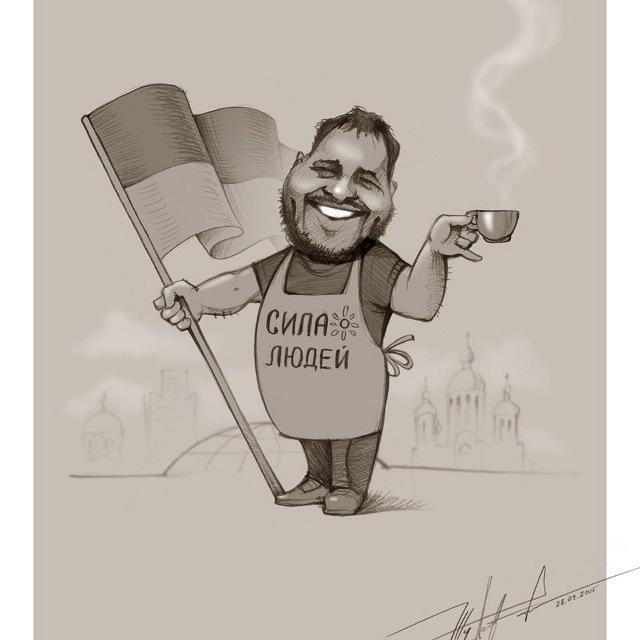 Карикатура Юрія Журавля на Зураба Кантарію