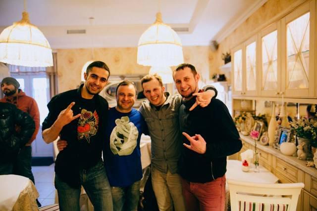 на фото (зліва направо): Микола Бондарчук (гітара), Віктор Павлік, Річард Гурич (вокал, гітара), Олексій Цимбалюк (бас)