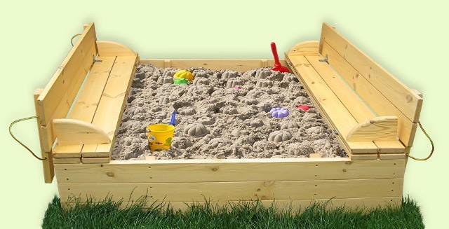 Песочница для дачи своими руками с крышкой
