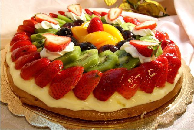Рецепт фруктрвых тортов с фото