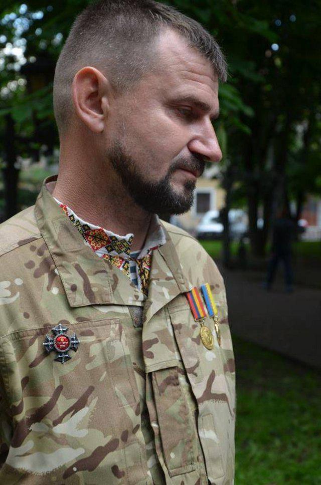 """На фото Валентин Гонтар """"Прапор""""<br /> Фото зі сторінки Назара Приходько <br /> у Фейсбук."""