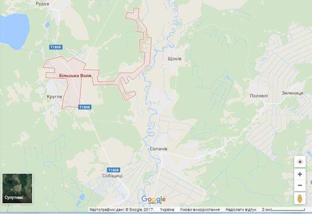Скрін з Google Maps.
