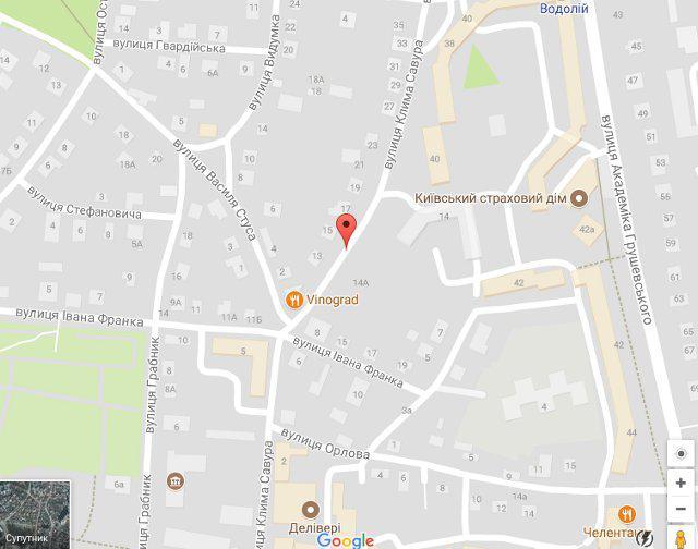 вулиця Клима Савури. <br /> <br /> google maps