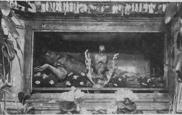 Мощі святого Валентина в Берестечку. Фото до 1920 року. Фото: Надане Тетяною Яцечко-Блаженко.<br /> Фото з gazeta.ua.