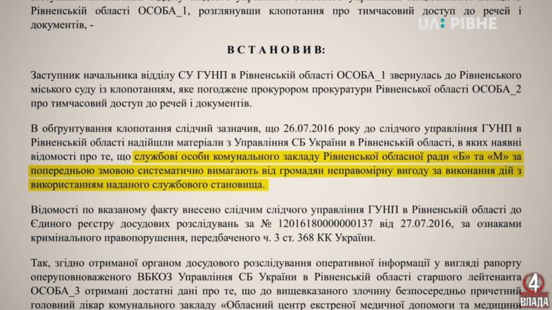 У цій ухвалі Рівненського міського суду службова службова особа «Б» - Андрій Бортнік, а особа «М» - Леонід Матвійчук<br />