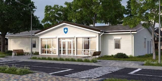 На фото - типові проекти будівництва сучасних амбулаторій, розроблені Мінрегіоном