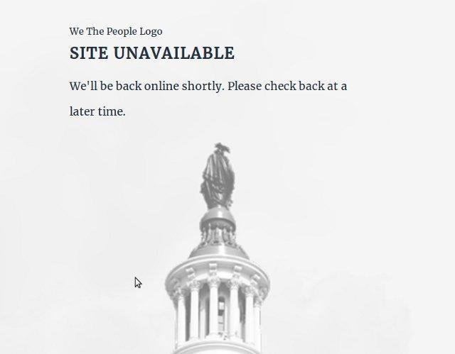 скрін з сайту We the People