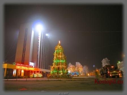 Новорічна ялинка в центрі Костополя