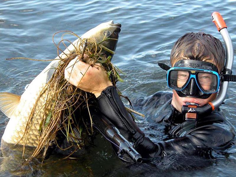 подводная рыбалка на