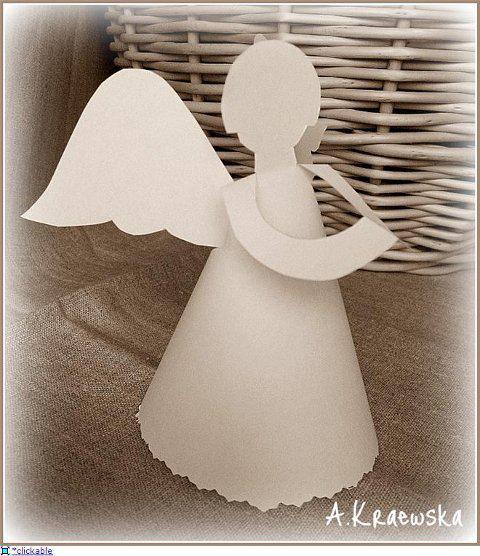 Как можно сделать из бумаги ангела