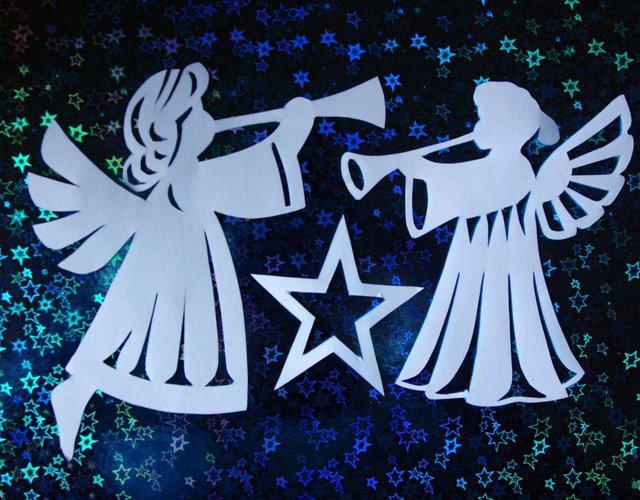 Как сделать рождественских ангелов