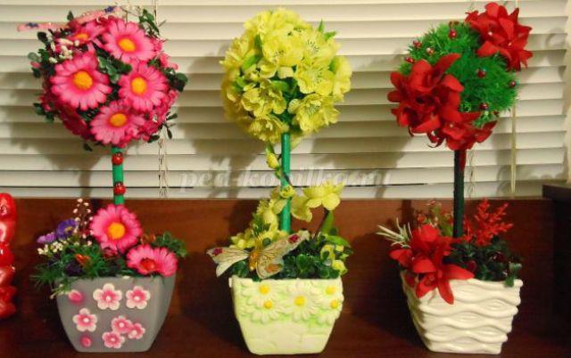 Искусственные цветы своими руками материалы