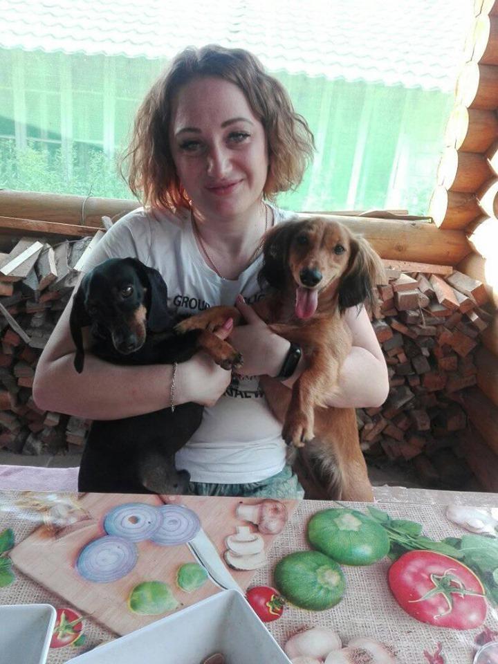 Морфей та Джина - собаки працівниці ОГО Ольги Коляди