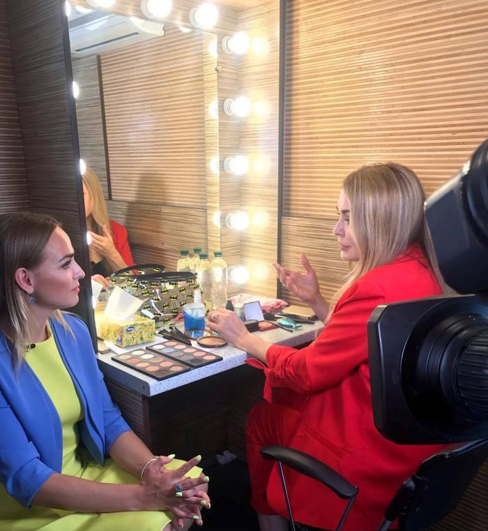 """Ольга Сумська дає ексклюзивне інтерв'ю програмі """"Ранок з Інтером"""""""